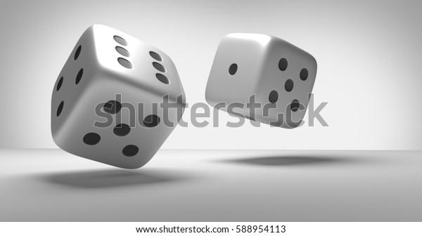 cubes dices 3d render