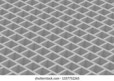 Cubic orthographic gray abstruct background 4k 3d