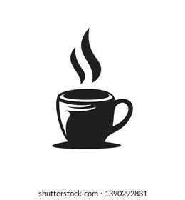 a cup black tea hot