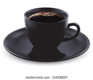Cup of coffee isolated. Illustration