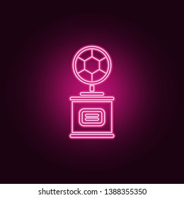 cup with a football sword icon. Elements of Sucsess and awards in neon style icons. Simple icon for websites, web design, mobile app, info graphics