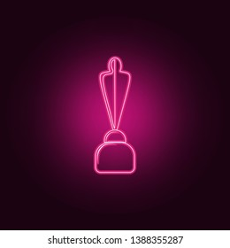 cup with silhouette of man icon. Elements of Sucsess and awards in neon style icons. Simple icon for websites, web design, mobile app, info graphics