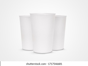 Cup of water mockup realistic 3D rendering