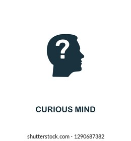 Curious Mind icon. Premium style design from personality collection. Pixel perfect curious mind icon for web design, apps, software, printing usage.