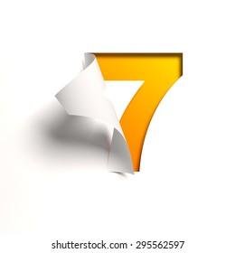 Curl paper font number 7