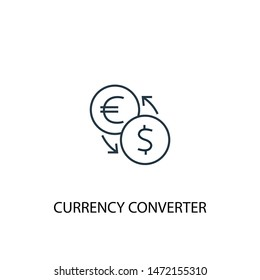 currency converter concept line icon. Simple element illustration. currency converter concept outline symbol design. Can be used for web and mobile UI/UX