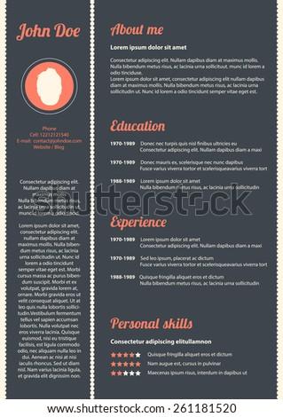 curriculum vitae with special modern design
