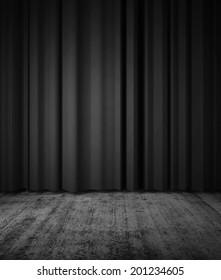 Curtain and floor