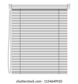 Curtain shades mockup. Realistic illustration of curtain shades mockup for web design isolated on white background