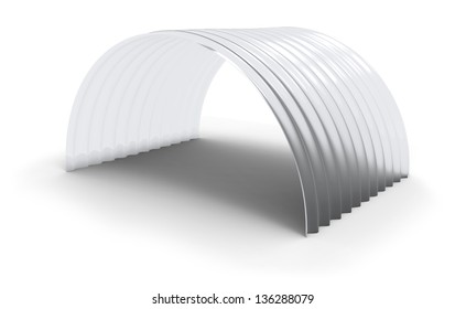 Curved corrugated polycarbonate sheet