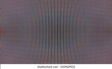 Curved crt display grid illustration with awesome cromatic aberration background