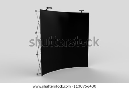 Fabric Exhibition Stand Year : Curved exhibition tension fabric display banner stock illustration