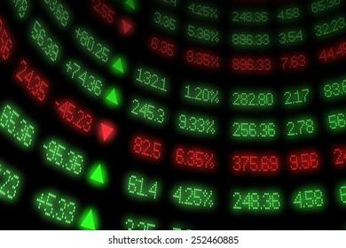 Curved Stock Market Ticker