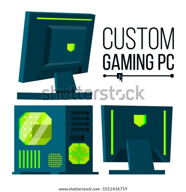 Custom Gaming Pc Modern Custom Build Stock Illustration 1012436719