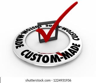 Custom Made Check Box Mark Special Order 3d Illustration