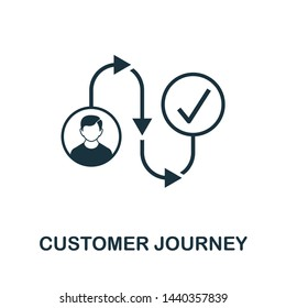 Customer Journey icon illustration. Creative sign from crm icons collection. Filled flat Customer Journey icon for computer and mobile. Symbol, logo graphics.