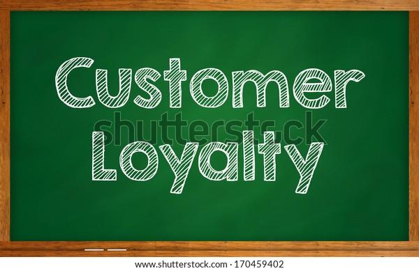 Customer loyalty on chalkboard