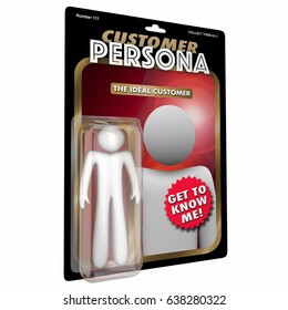 Customer Persona Action Figure Buyer Profile 3D Illustration