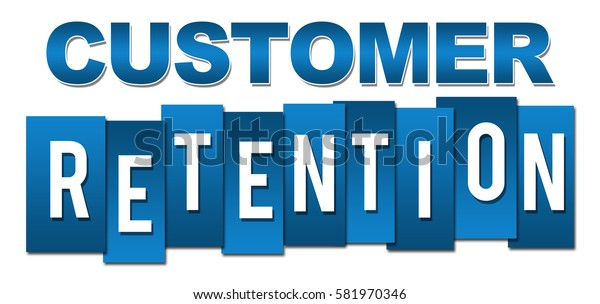 Customer Retention Professional Blue Stripes