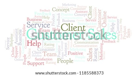 Royalty Free Stock Illustration of Customer Sales Word Cloud Stock