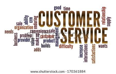 4bc854c1 Customer Service Word Collage Arkiv Illustrasjon 170361884 ...