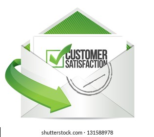 customer support mail message communication concept illustration design