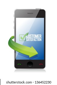 customer support review illustration design over a white background