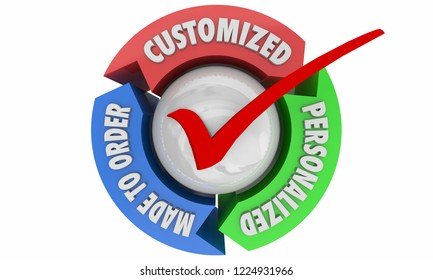 Customize Personalize Check Mark Special Order Product 3d Illustration