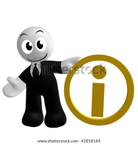 Cute 3 D Icon Information Centre Symbol Stock Illustration 42858184