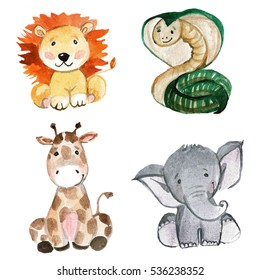 Cute Animals for kindergarten, nursery, children clothing, pattern