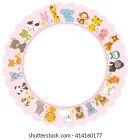 cute animals and message space
