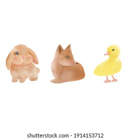 Cute animals pattern holiday Easter kids
