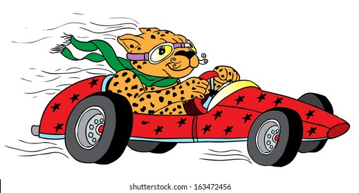 cute animal/vintage race car for printing/Vector vintage sport racing car/T-shirt Graphics/Vintage typography/retro race car set/Vector Cartoon Retro Hot Rod/Vector Hot Rod/T-shirt printing designs