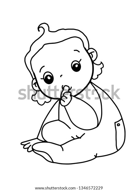 - Cute Baby Girl Coloring Cartoon Characters Stock Illustration 1346572229