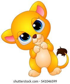 cute baby lion cartoon のベクター画像素材 ロイヤリティフリー