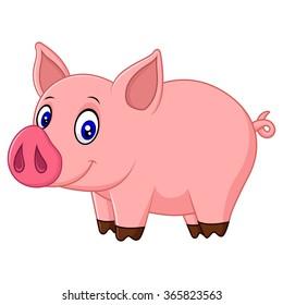 Pig cartoon images stock photos vectors shutterstock - Pig wallpaper cartoon pig ...