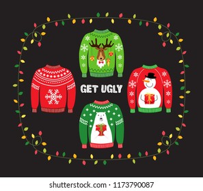 Cute banner for Ugly Sweater Christmas Party for your decoration