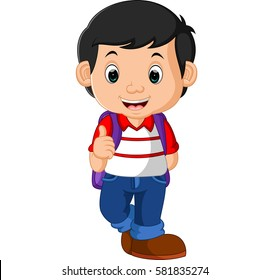 Cute Little Boy Black Hair Dressed Stock Vector Royalty Free