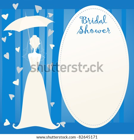 cute bridal shower invitation showered with love