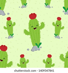 cute cactus illustration print design
