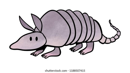 Cute cartoon Armadillo Icon