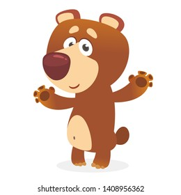 Cute cartoon bear character illustration