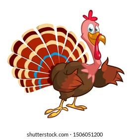 Cute cartoon Thanksgiving turkey bird illustration