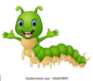 Cute caterpillar cartoon