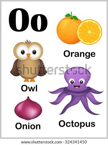 Cute Colorful Alphabet Letter O Set Stock Illustration 324341450