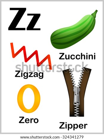 Cute Colorful Alphabet Letter Z Set Stock Illustration 324341279