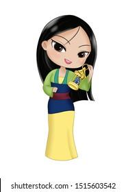 cute Comic Chibi DP Mulan