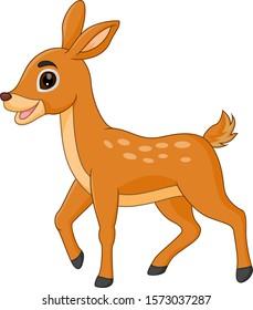 Cute deer cartoon funny alone