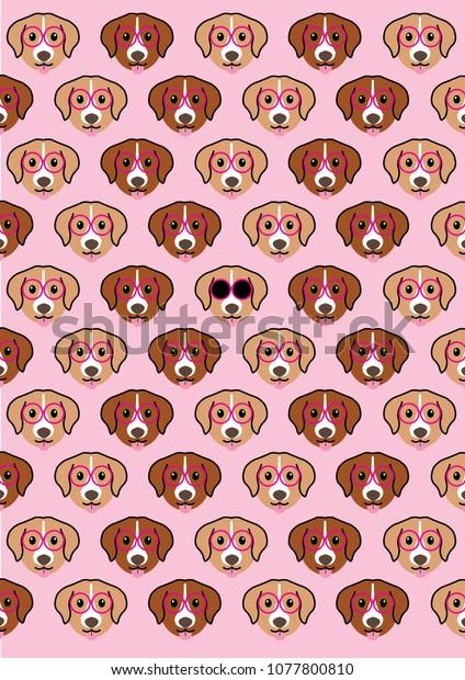 Ilustración De Stock Sobre Cute Dog Wallpaper 1077800810