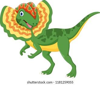 Cute dolophosaurus cartoon